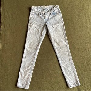 Levi's 711 White Washed Skinny Jeans Womens 26
